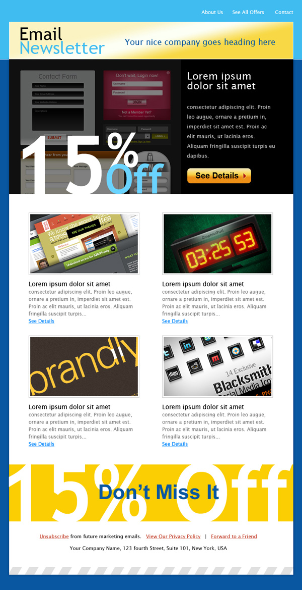 11 Email Template PSD Images