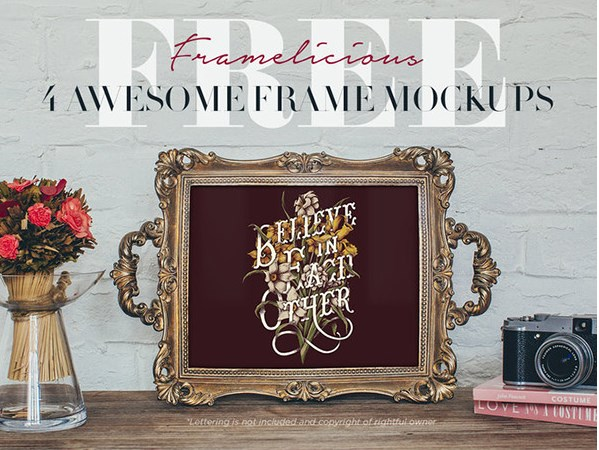 12 Photo Frame Mockup PSD Free Download Images