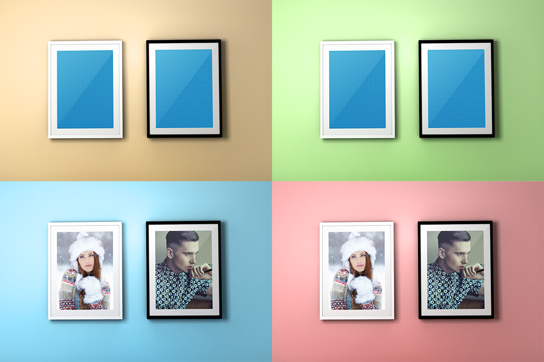 Free Photo Frame PSD Mockup