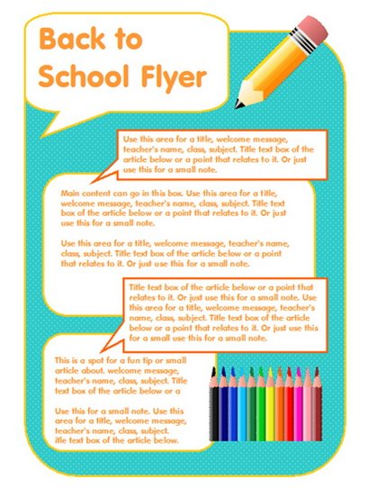 16 free brochure templates school use images school free for Parent flyer templates