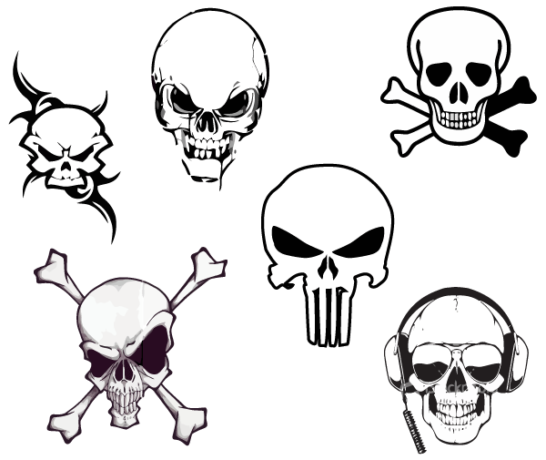 14 Free Vector Skull Graphics Images