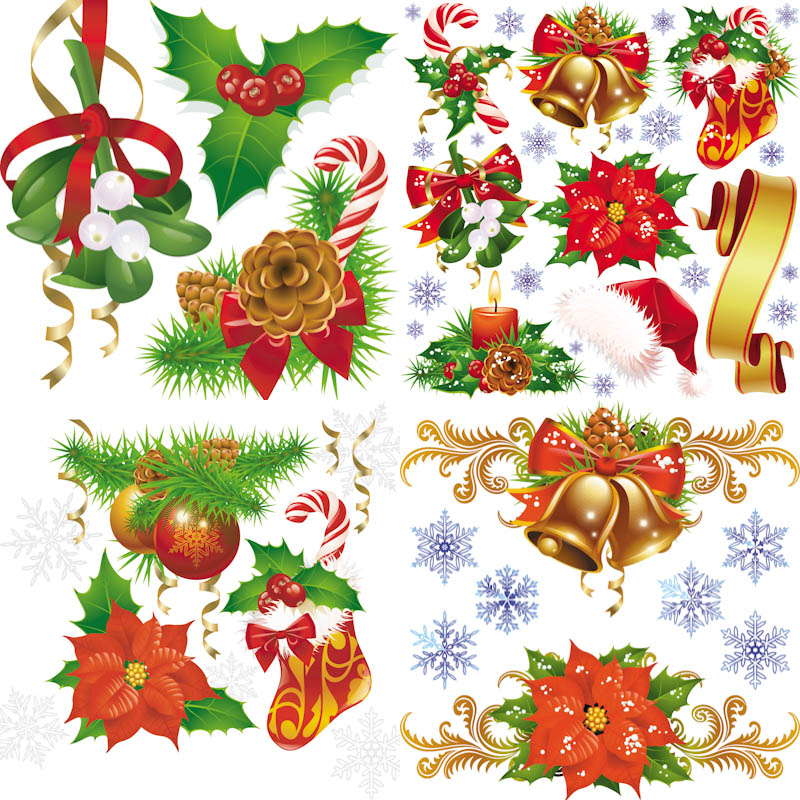 14 Free Vector Christmas Decorations Images