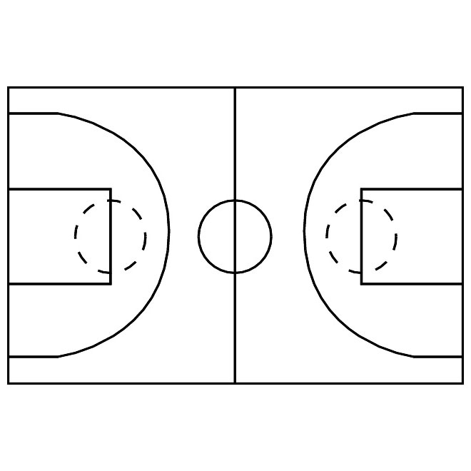 Free Vector Basketball Court