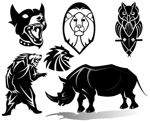 10 Wild Animal Clip Art Vectors Images