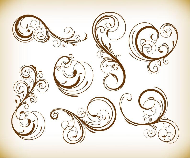 flowers and swirls designs - photo #33