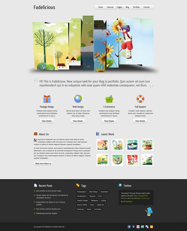Free Web Design Layout Template