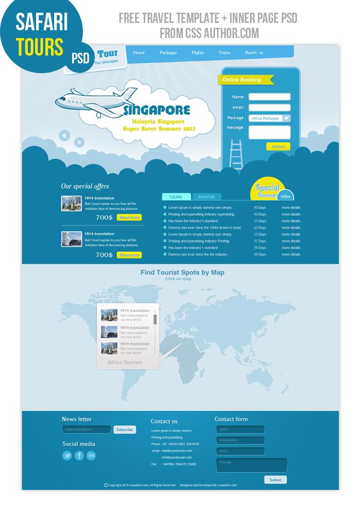 Free Web Page Design Templates
