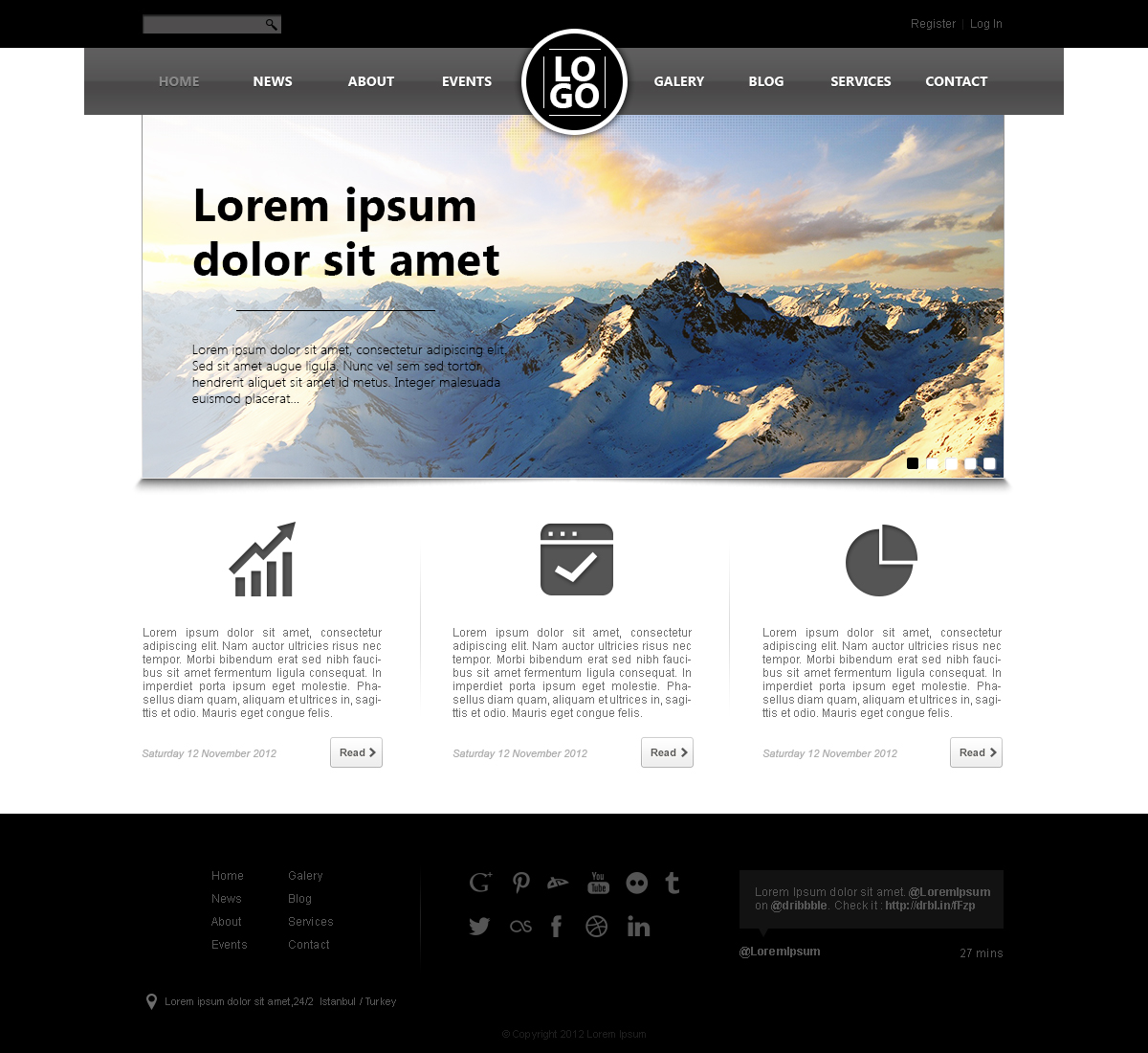 14 Free PSD Website Design Layout Images