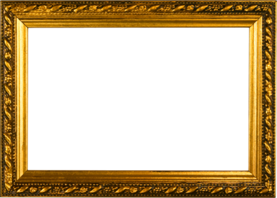 17 HD Gold Psd Frames Images