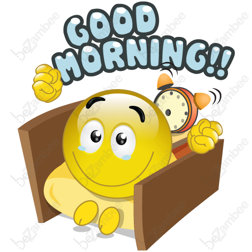 6 Good Morning Emoticons Images