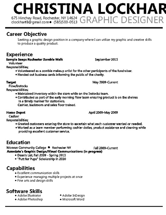 Graphic designer resume samples 2011
