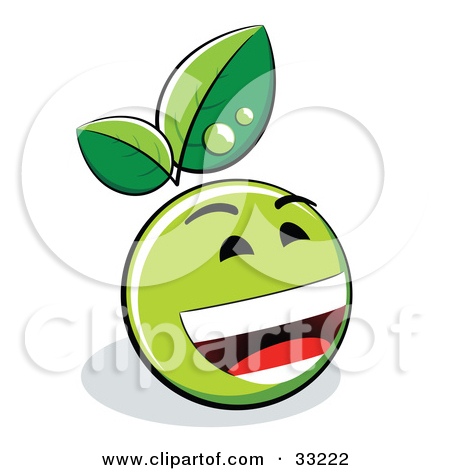Green Smiley-Face Laughing