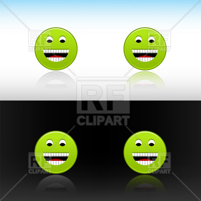 Green Smiley-Face Laughter