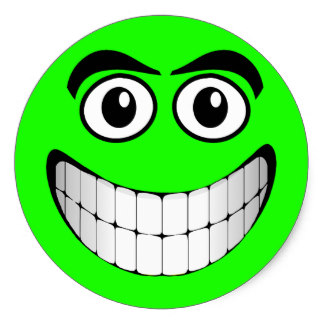 Green Smiley-Face