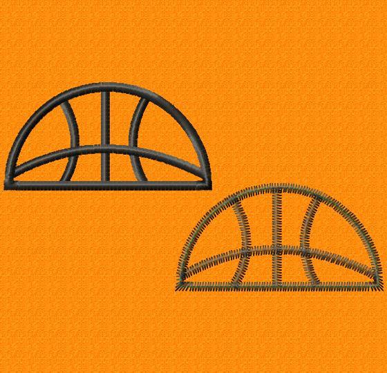 Half Basketball Outline