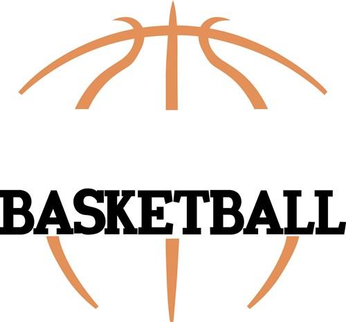 Half Basketball Vector