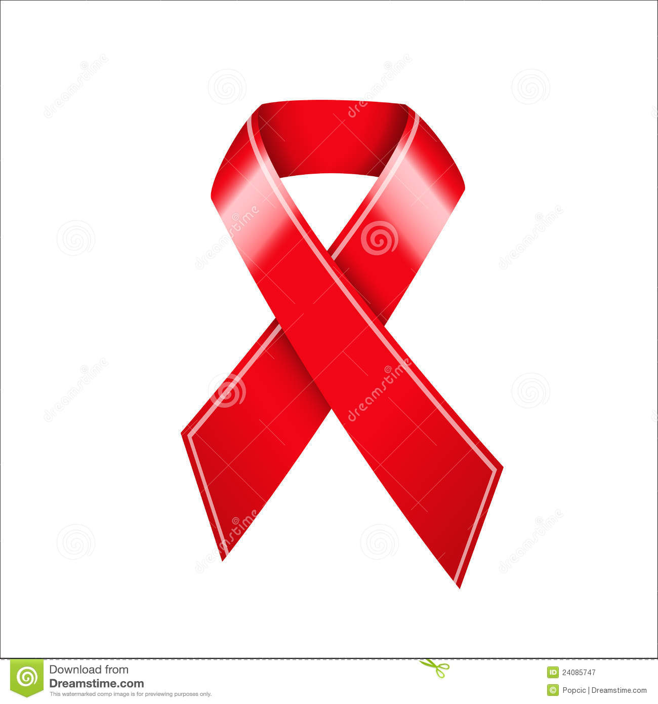 HIV AIDS Awareness Ribbon