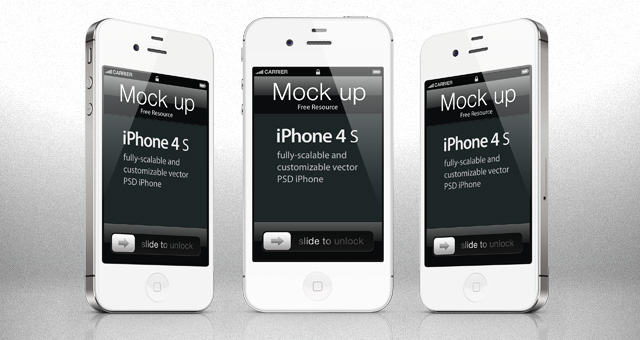 iPhone 4S PSD Template