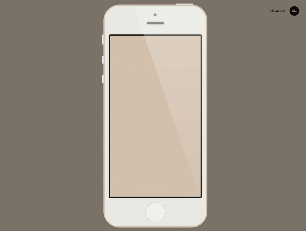 14 Gold IPhone 5S PSD Images - iPhone 5S Mockup Vector PSD ...