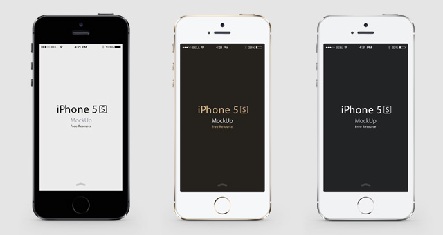 14 Gold IPhone 5S PSD Images