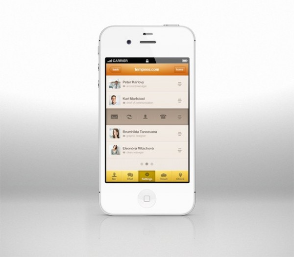 iPhone App Design Templates