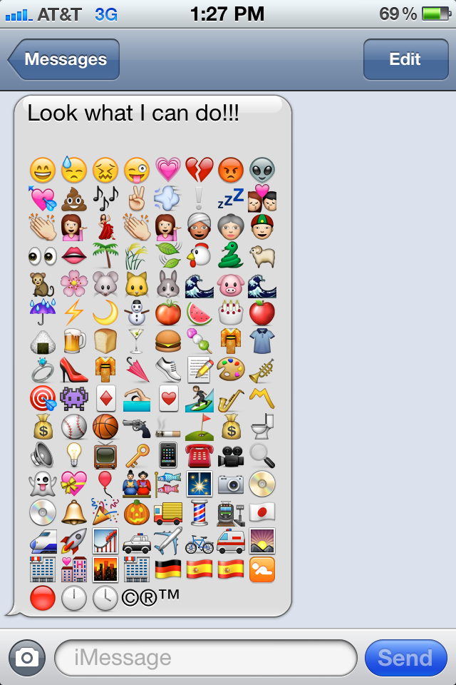 17 IPhone Text Emoticons Images