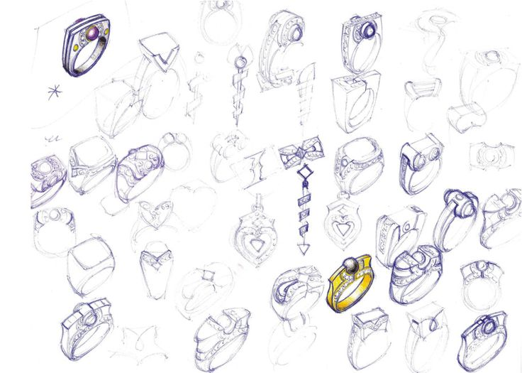 12 Sketches Design Jewelry Images