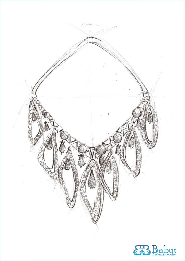 Jewelry Design Line Art : Sketches design jewelry images