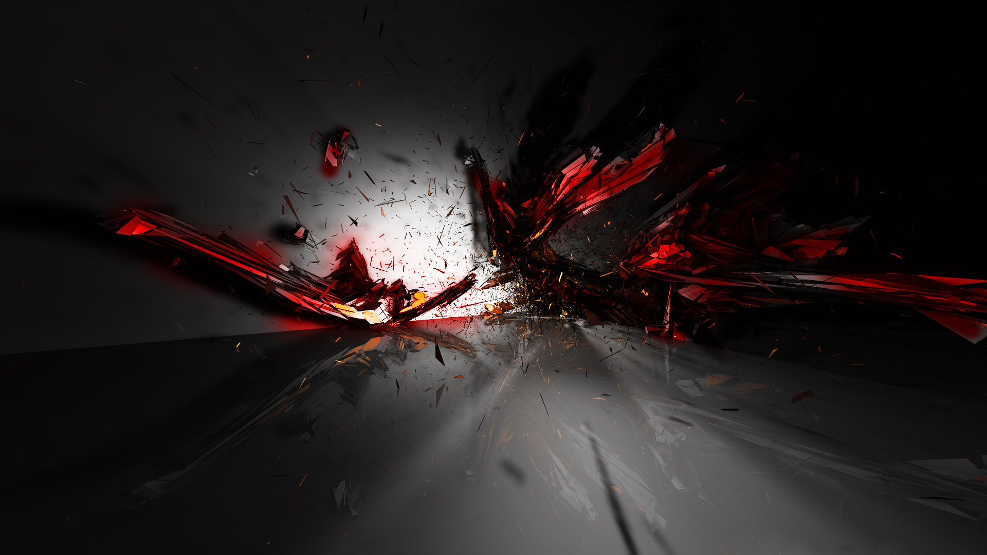 11 Red 3D Abstract Designs Images