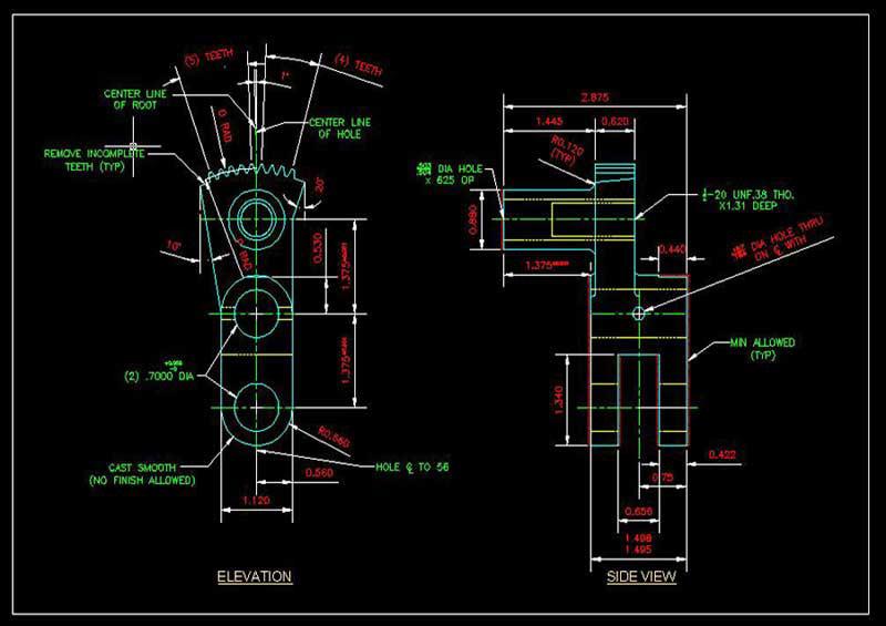 Mechanical Engineering Autocad Drawings