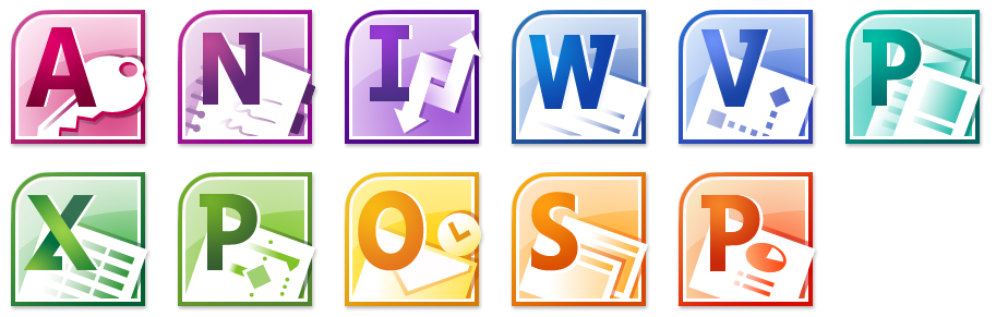 Microsoft Office 2010 Logo Icon