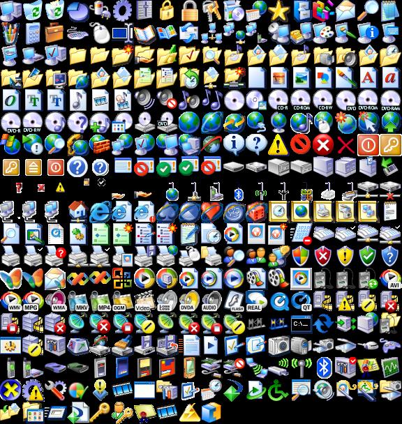 Microsoft Windows XP Icons