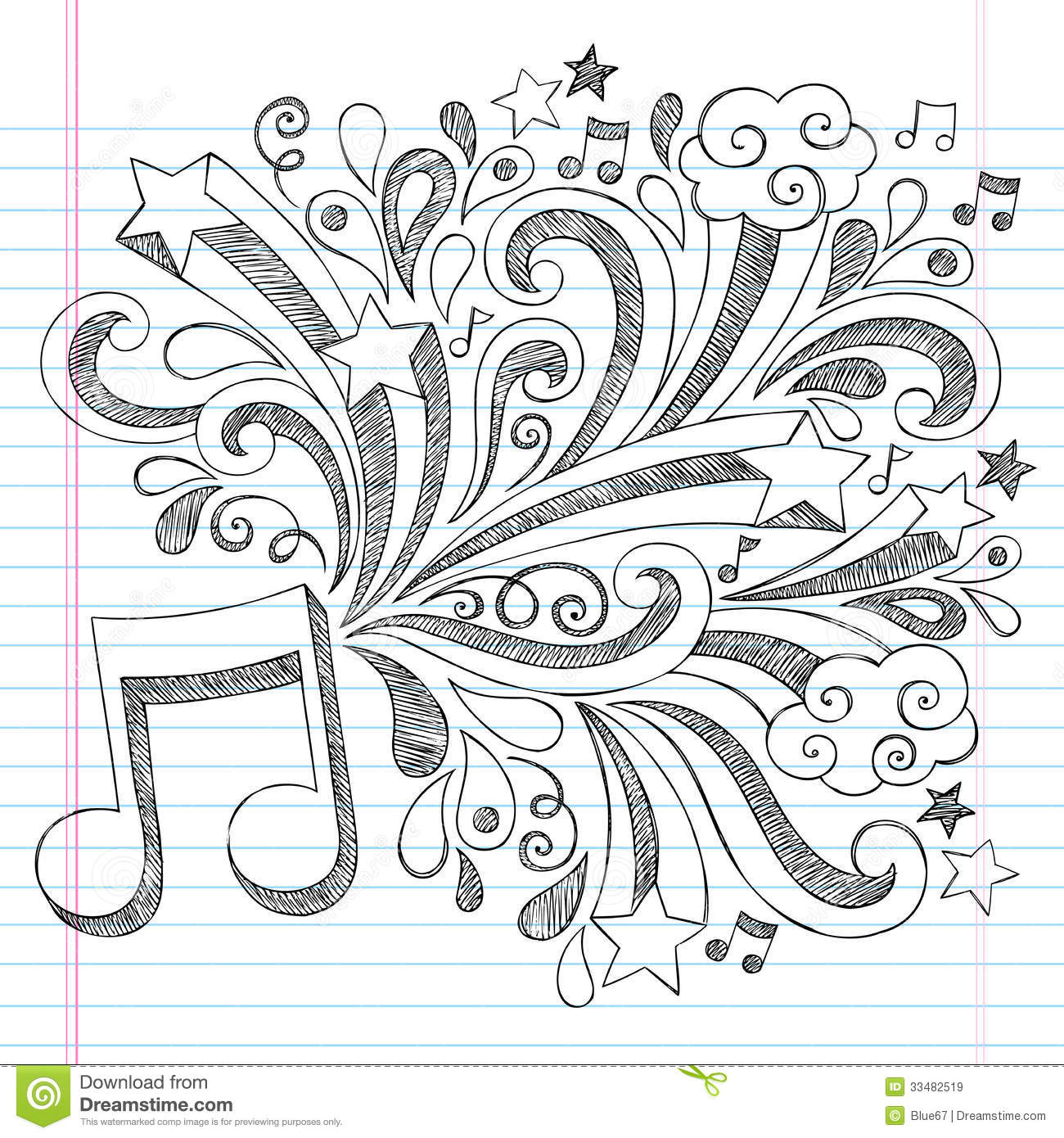 18 Designs Drawn Music Images Music Note Tattoo Drawing Designs