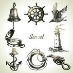10 Nautical Design Elements PNG Images
