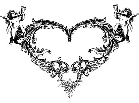 8 Ornate Vector Heart Images