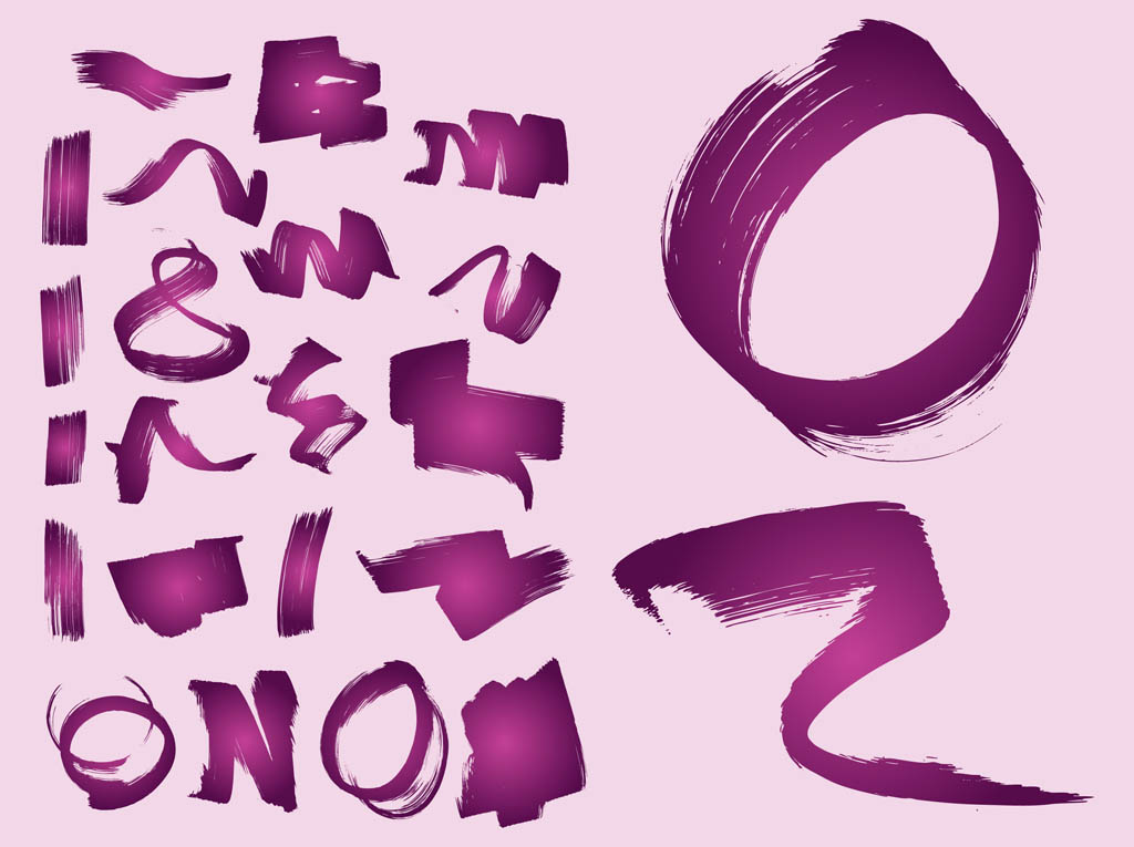 13 Paint Strokes Vector Free Images