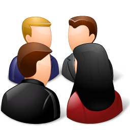 8 Group Meeting Icon Images