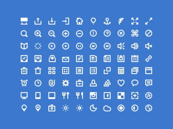 19 Developer Icon White PSD Images
