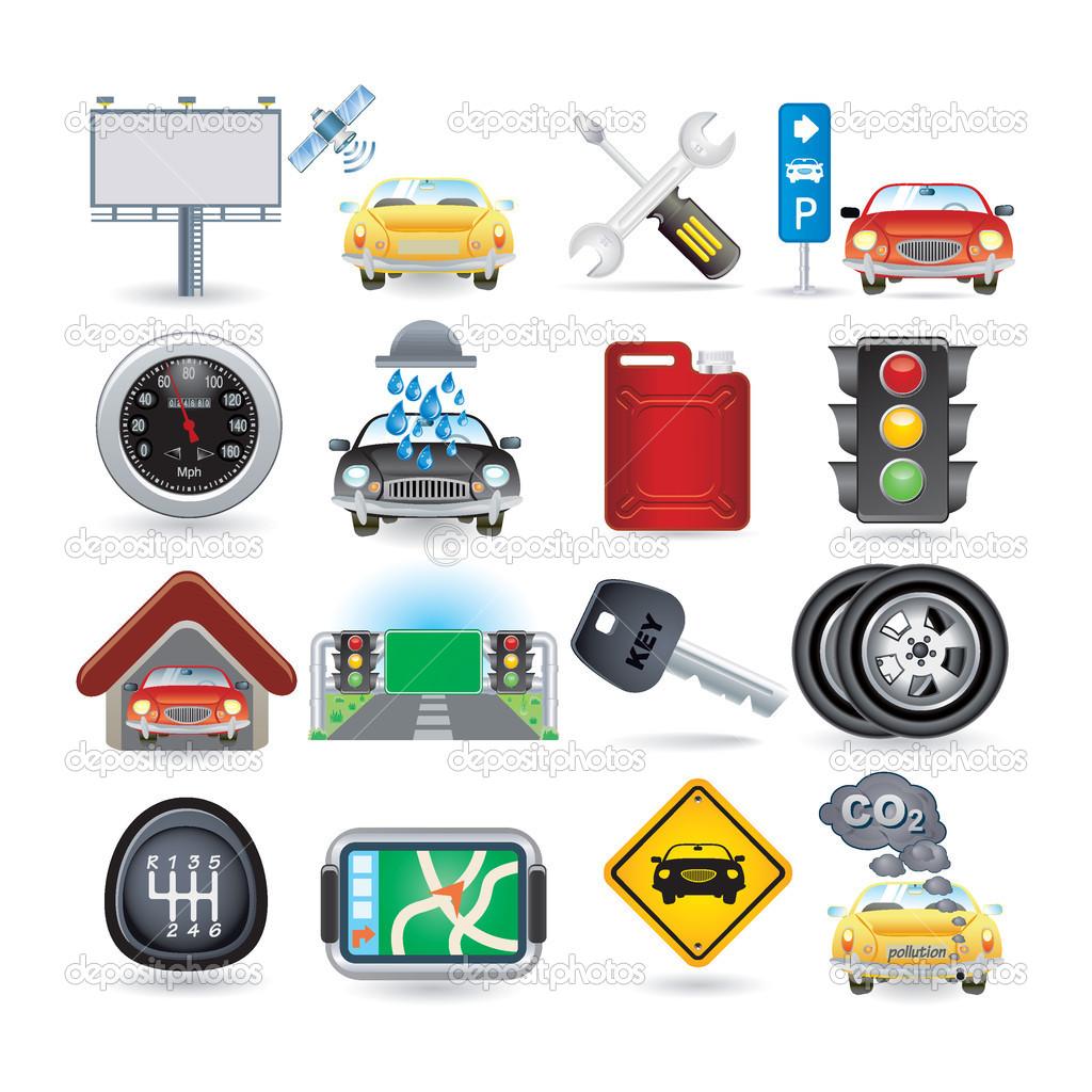 9 Car Icon Set Images