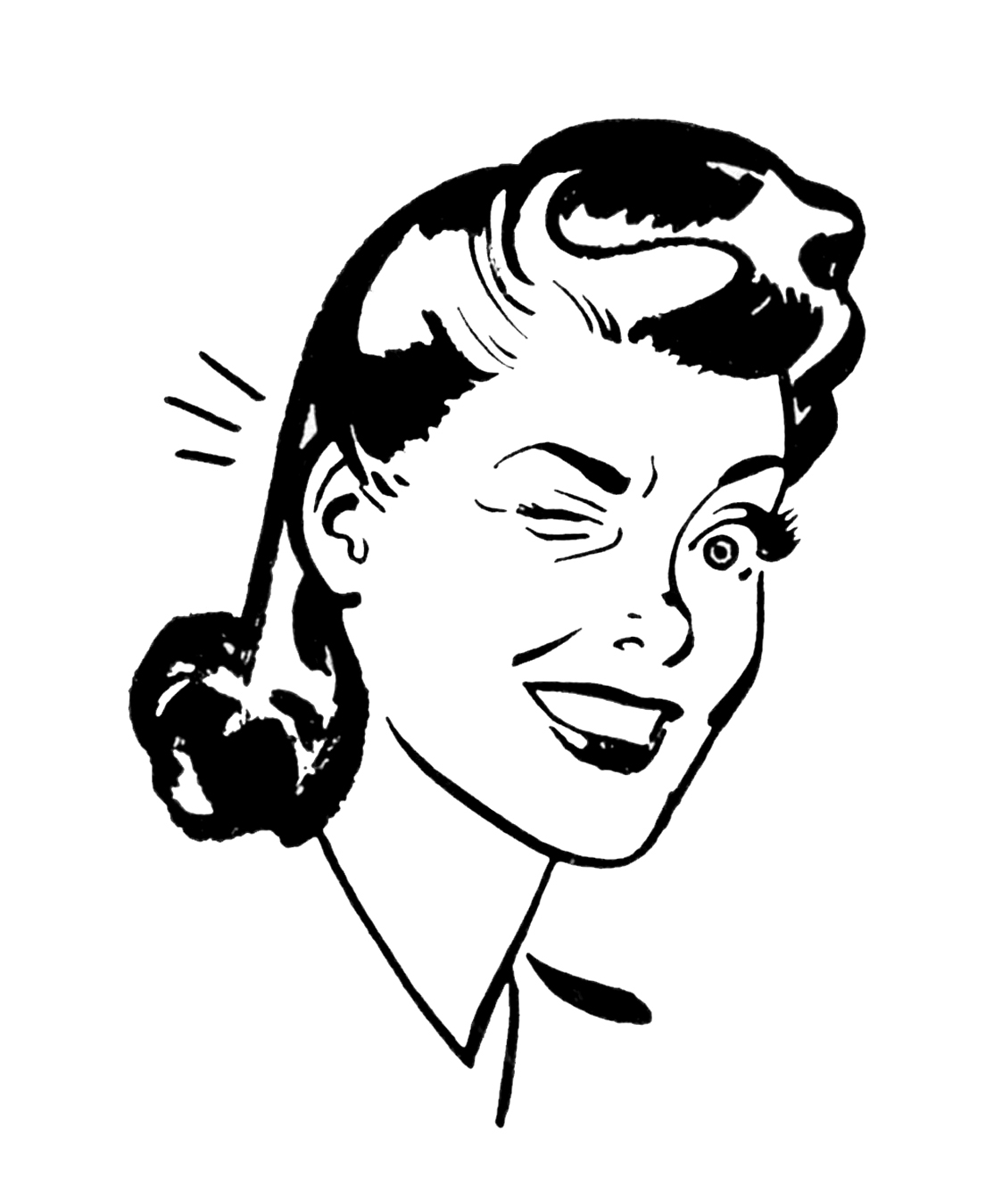 Retro Woman Clip Art