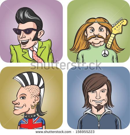 Rock Poster Style Illustration Portrait