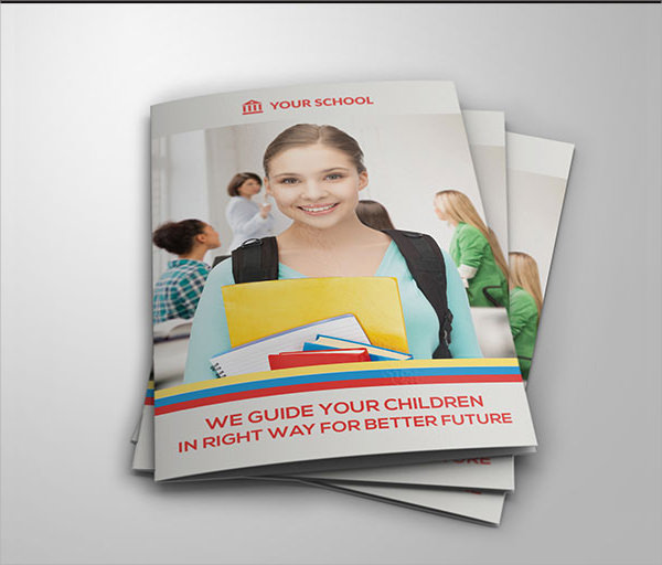16 free brochure templates school use images school free template