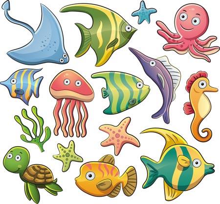 Sea Animal Cartoon Character