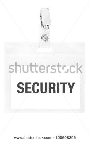 Security ID Badge Clip Art