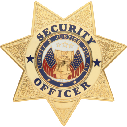 Security Officer Badge 7 Point Star