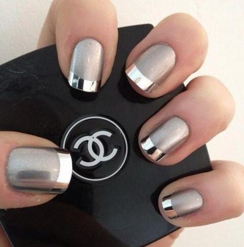 Silver Nail Art Design