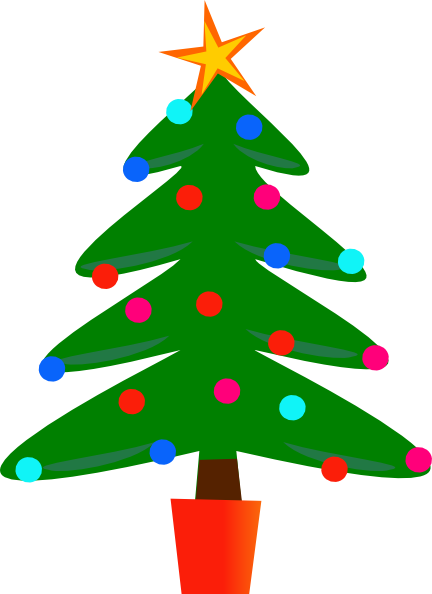 Simple Christmas Tree Clip Art