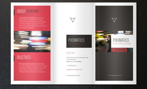Simple Tri-Fold Brochure Template Free