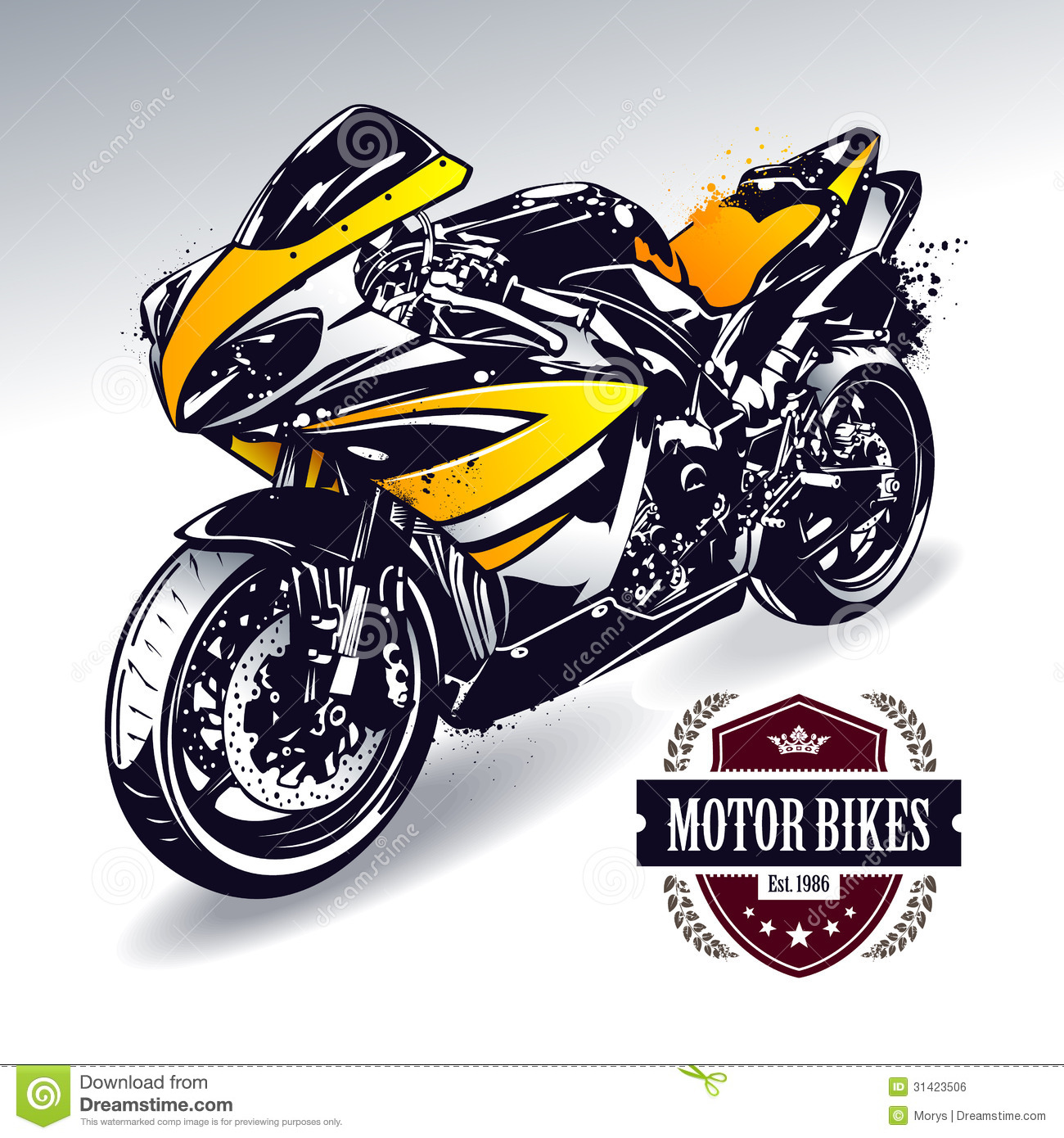 Sport Motorcycle Vectors