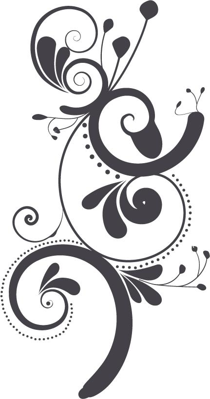 Line Art Designs For Borders : Transparent design swirl art images black